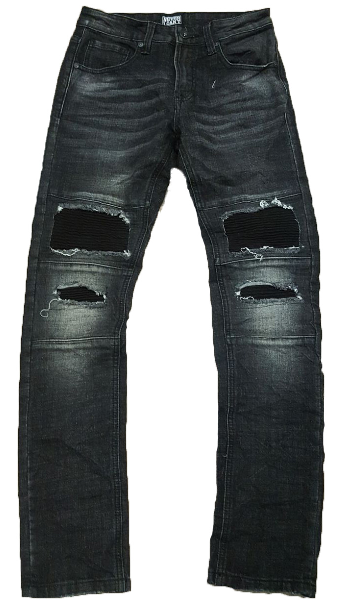 Jeans Rotos Negro Parche Never I Can T Tattoo Studio Urban Wear