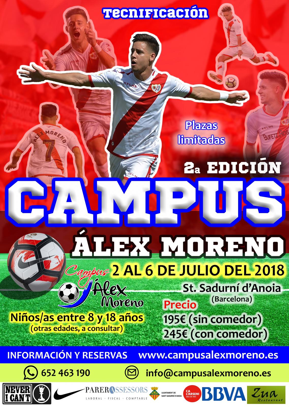 Programa segunda edición campus Álex Moreno